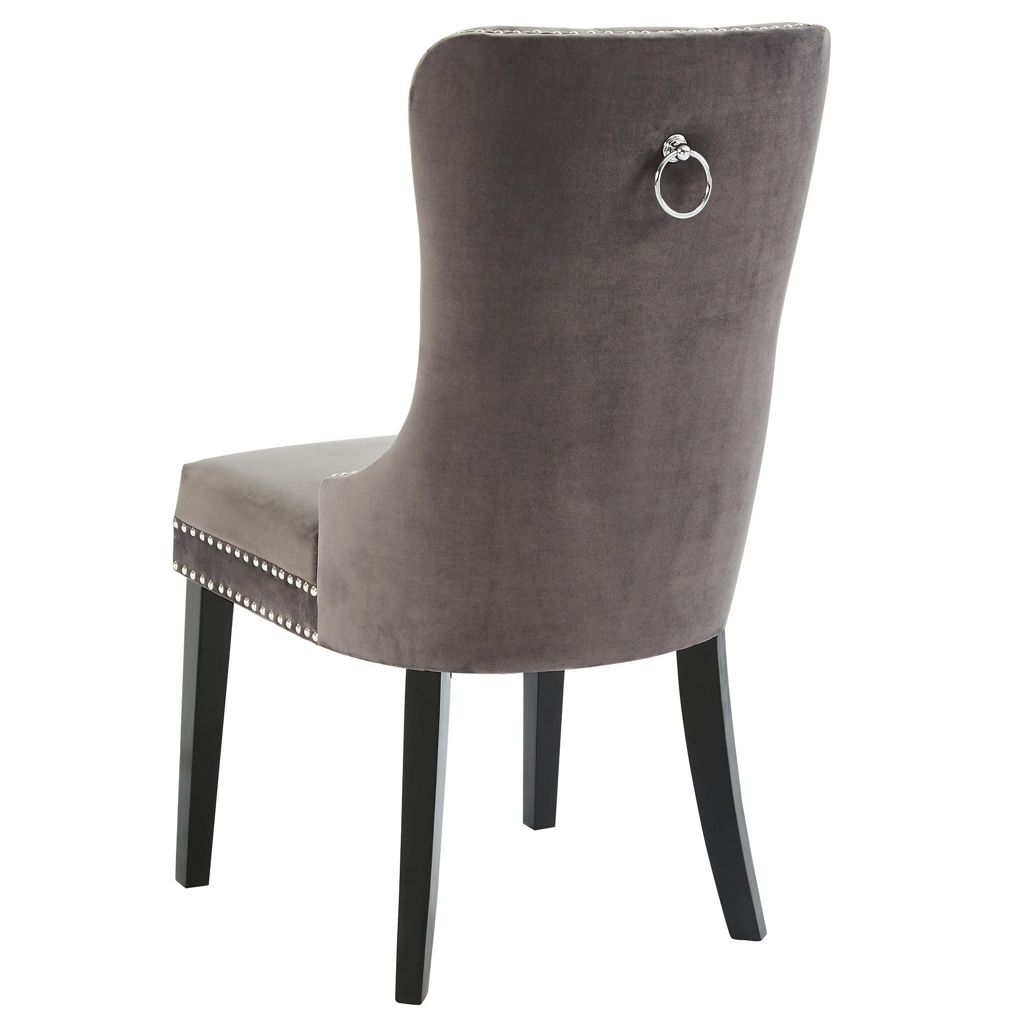 Rizzo Velvet Chair Grey 187 Ontario Mattress