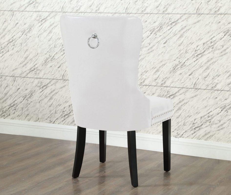 Modern Dining Chair White Leather 187 Ontario Mattress